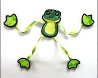 Frenzy Frog Embroidered Magnet