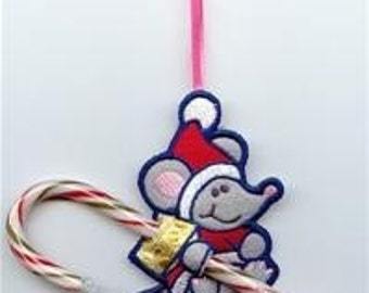 Mouse Candy Cane or Pencil Holder Ornament