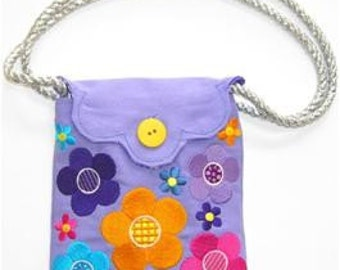 Cool Girl Flower Embroidered Purse