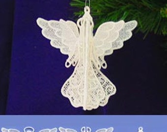3D Free Standing Lace Angel Ornament