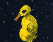 Lonesome Duckling (original drawing, 2012)