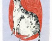 Little Cat No.3 (original drawing, 2012)
