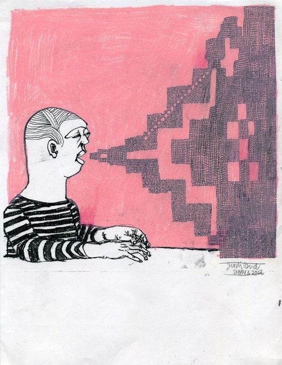 The Air (original drawing, 2004 and 2012)