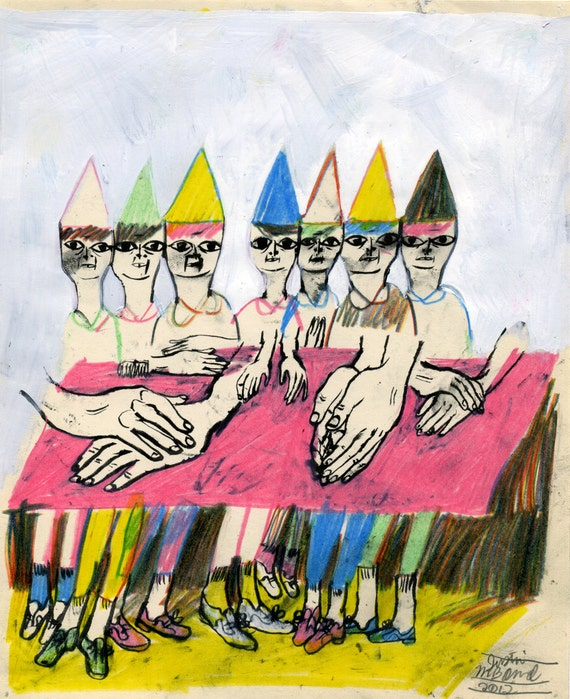RESERVED -- Table For Seven (original drawing, 2012)