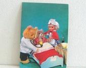 Vintage Doll Postcard 1960s Blank Greeting Card Hospital Unused