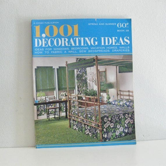 Vintage Home Decor Magazine 1960's 1001 Decorating By