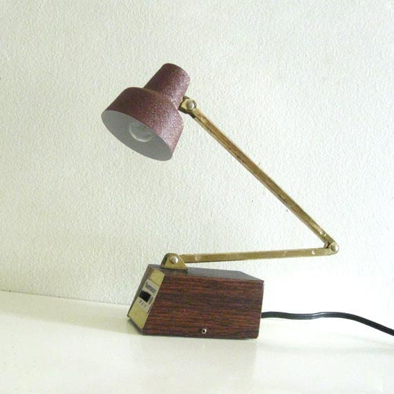 Vintage Lamp Desk Light Mid Century Tensor Folding By