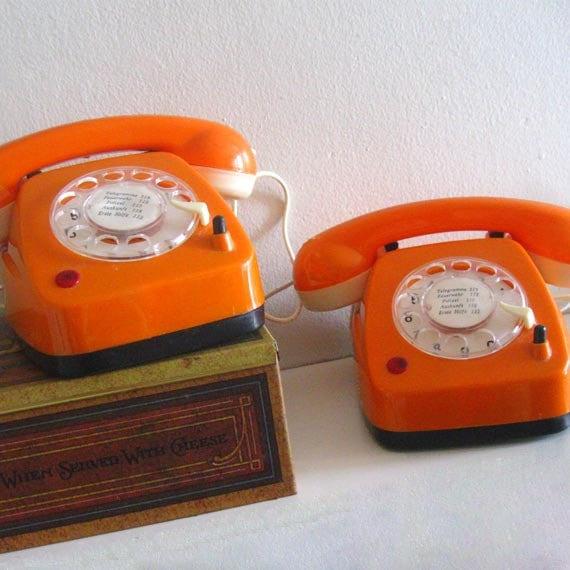 Barbie Toy Phone : Vintage rotary phones toy walkie talkie intercom telephone