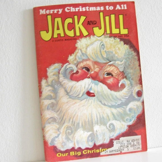 Vintage Childrens Book 1960s Christmas issue Magazine Jack and Jill