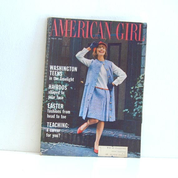 Vintage Magazine 1960s American Girl Scouting Teenager Mag