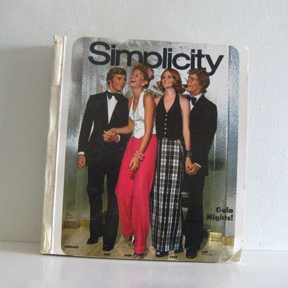 Huge Vintage Simplicity Store Counter Fashion Pattern Catalog 1970s Large Book