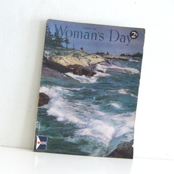 1940s Vintage Magazine Womans Day