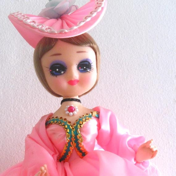 Vintage Pose Doll Southern Belle Bradley Type Big Eyed - RESERVED FOR MICHELLE