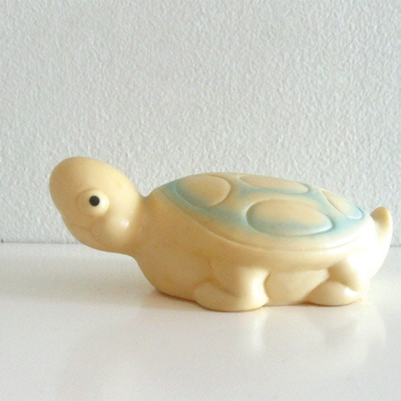 Vintage Squeaky Toy Animal Rubber Turtle