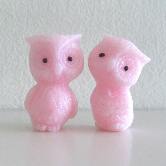 Kawaii Retro Resin Owl Figurines