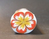 ClayCrazy - orange \/ yellow flower cane - polymer clay