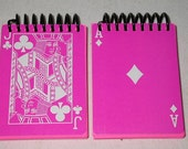 Bright Pink Playing Card Journal / Notebook / Sketchbook - 10 for 10