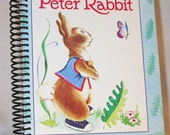 Vintage Altered Little Golden Book Journal The Tale of Peter Rabbit  by Beatrix Potter Notebook /  Diary