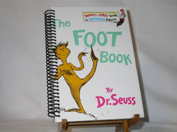 Altered Book Journal - Dr Seuss The Foot Book Notebook / Diary