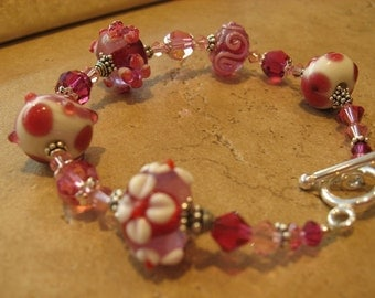 Fuschia and Pink Bracelet