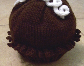 Chocolate Cupcake Hat Size 2-3