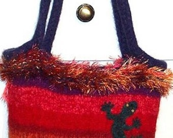 Knitted and Felted Wool Tote Bag PATTERN