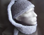Shades of Grey Pirate Pixie Hat reserved for Stitchedforyou