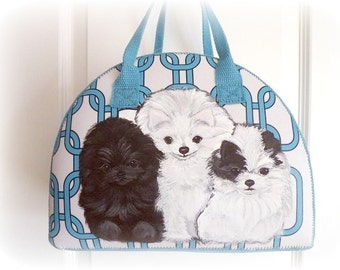 Custom Pomeranian Hand Painted Handbag