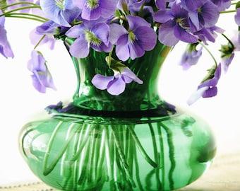 Wild and Sweet - Purple Violets Bouquet Photo Art