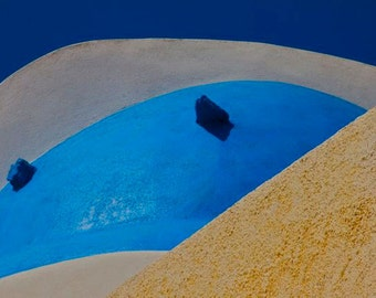 Cobalt white cream beige turquoise photograph abstract roofs GREEK ABSTRACTION   Greece  Santorini domes travel