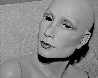 Black and White Mannequin photograph head spooky freaky weird abstract face