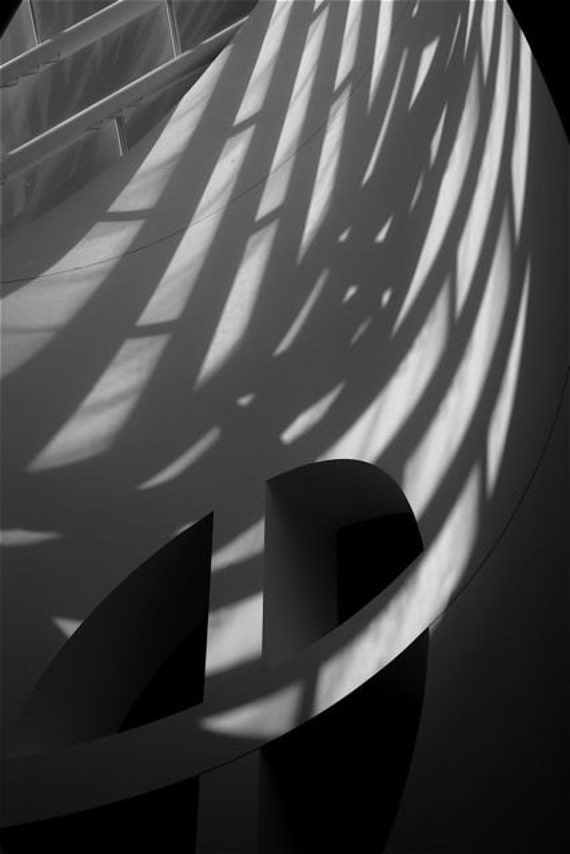Black and white Photograph shadows  light Museum SanFrancisco   ABSTRACTION modern abstract