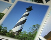 NC Lighthouses Photography Note Cards - Set of 4 Different Photos - Outer Banks Stationery, North Carolina Art