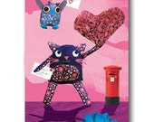 Greeting Card - Hugo and Fleur ( Posting a Little Love)