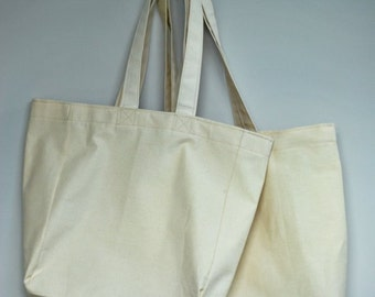 Reusable canvas grocery totes--gift set FREE SHIPPING