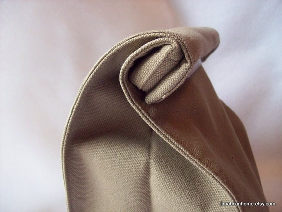 Reusable canvas lunch bag-- looks like a brown paper lunch sack--FREE SHIPPING.