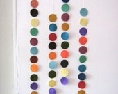 m.o.m -big felt dot garland
