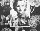 "1930s 1940s patterns for making ""Buttonholes from Oddments"" - crochet & craft"