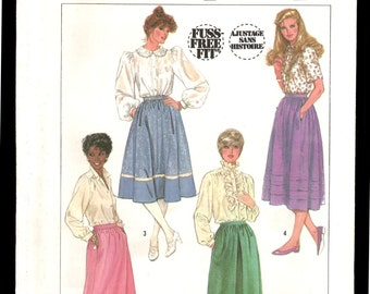 Simplicity 7435 Vintage sewing pattern Misses skirts sz 16 cut and complete
