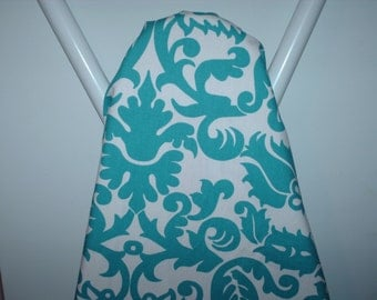 TURQUOISE teal and white  damask ironing Board cover Amsterdam
