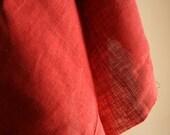 SALE . LINEN fabric in CRANBERRY - lightweight