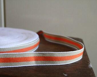 3 meter ORANGE COTTON TAPE / trim / stripes / ribbon / etsy Australia