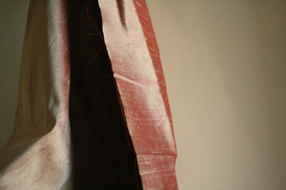 SILK fabric . salmon pink . evening gown. bridesmaid clothing.  etsy australia . supplies by runningthreads