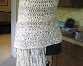 Completed Reiki Prayer Shawl - Pearl