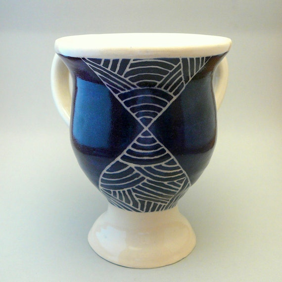 Blue Washing Cup with Base
