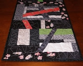 SALE, Art Quilt Wall Hanging, Quiltsy Table Runner, Halloween Table Setting
