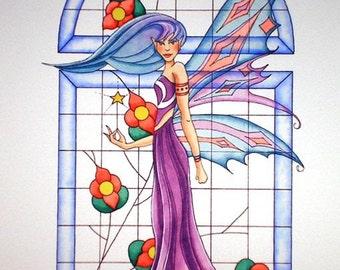 Giclee Fairy Print, Nissa, the Friendly Elf