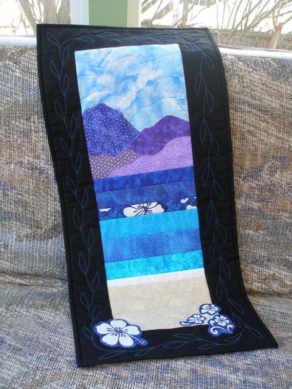 "Art Quilt Wall Hanging, ""Mountain Overlook"""