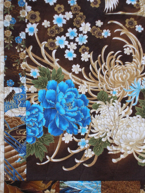 """Oriental Quilted Wall Hanging, """"Resplendent"""""""