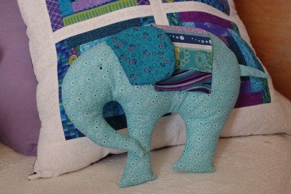Stuffed Elephant Pillow, Decorative